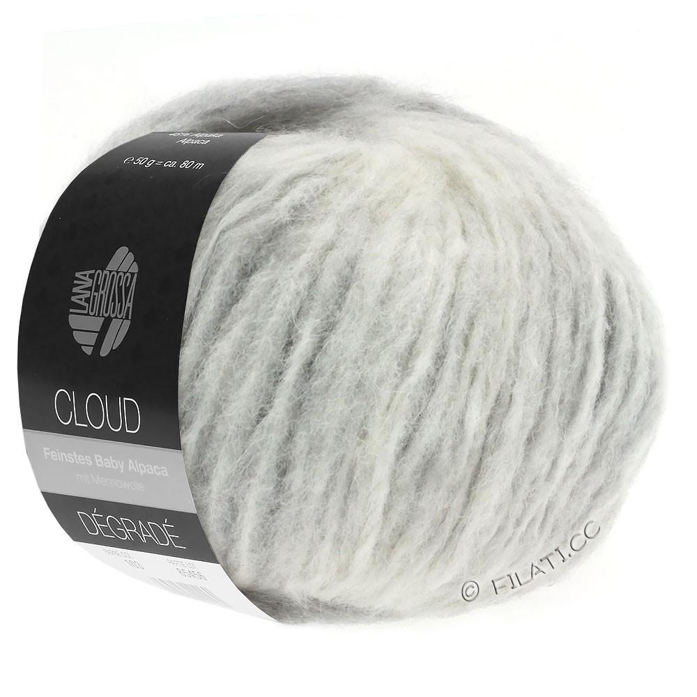 Lana Grossa CLOUD Degradé | 110-licht grijs/ruwe witte