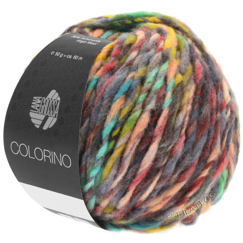 Lana Grossa COLORINO | 01-rood/groen/grijs/beige/antraciet