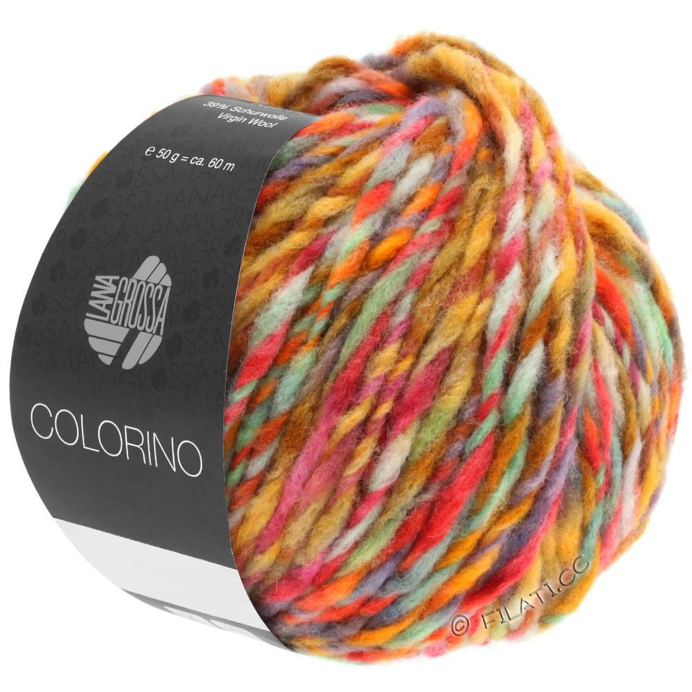 Lana Grossa COLORINO | 02-petrol/licht groen/blauw/bruin