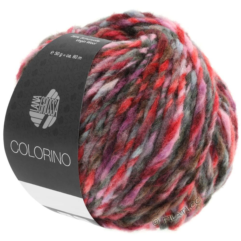 Lana Grossa COLORINO | 03-rood/rose/grijs/bourgondisch/antraciet