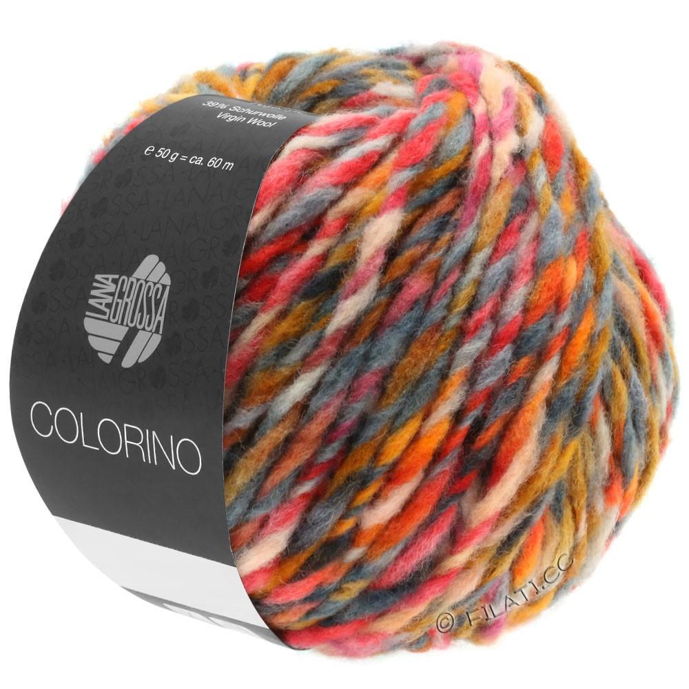 Lana Grossa COLORINO | 06-oranje/kameel/donker bruin/grijs