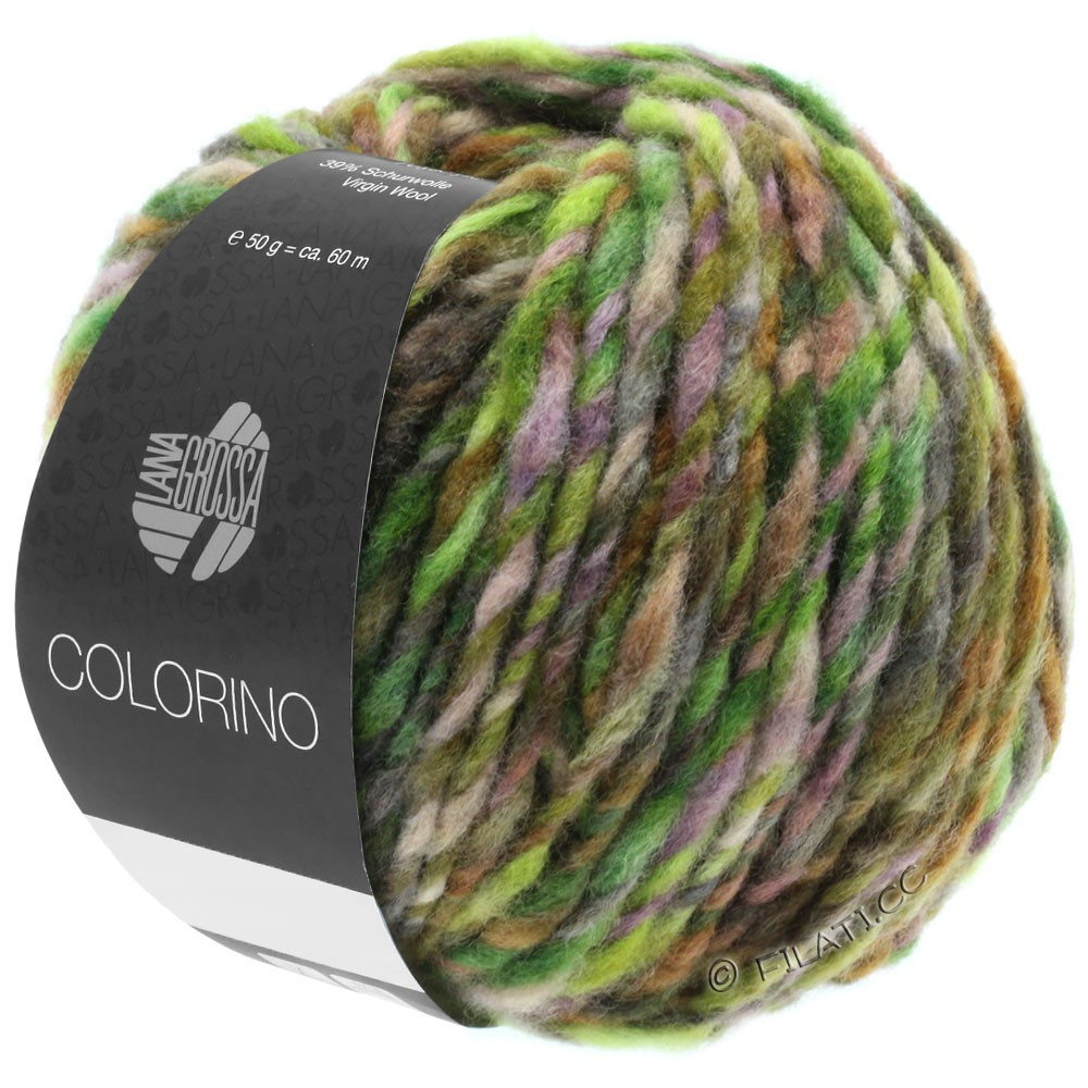 Lana Grossa COLORINO | 08-groen/donker bruin/citroen/petrol