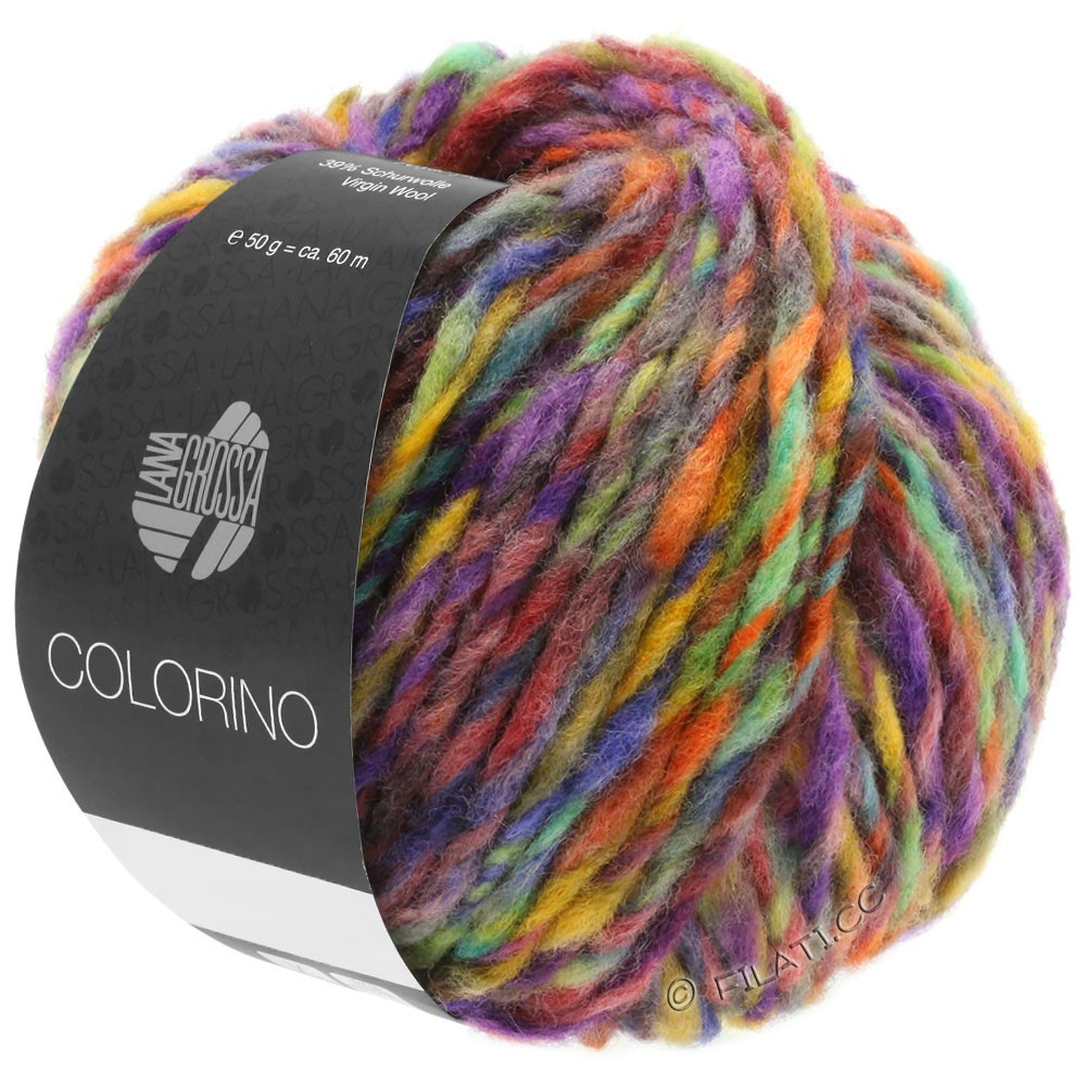 Lana Grossa COLORINO | 09-rood violet/blauw violet/petrol/oker/donker bruin