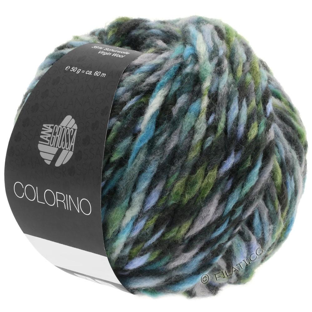 Lana Grossa COLORINO | 10-grijs/antraciet/licht blauw/grijs groen