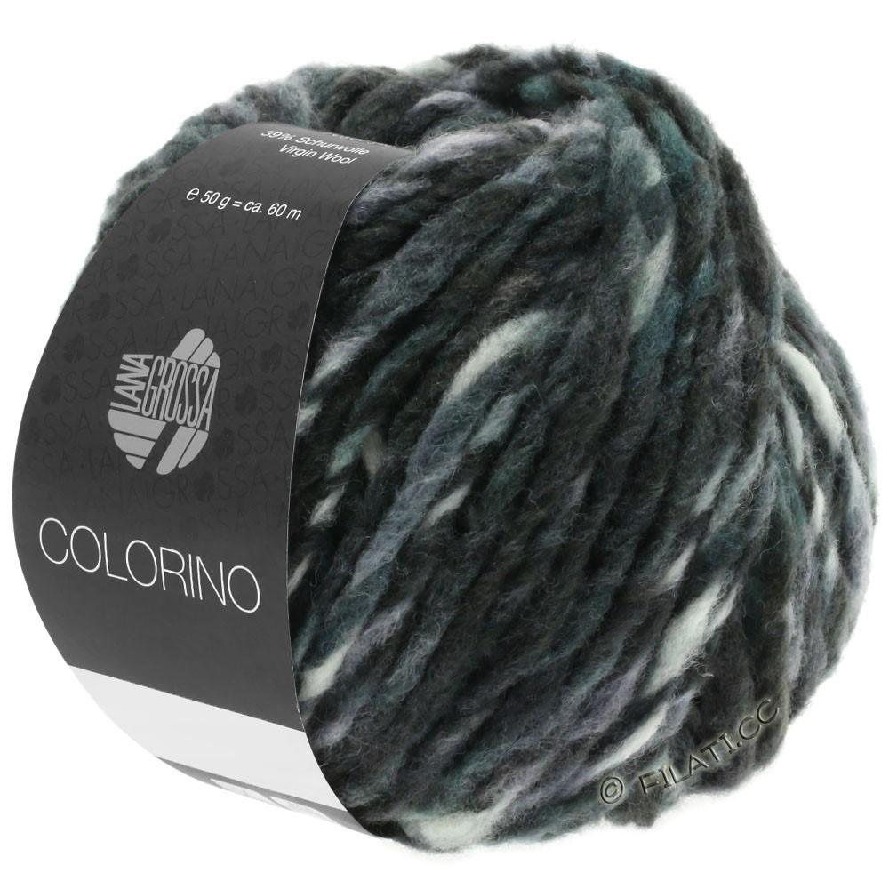 Lana Grossa COLORINO | 11-antraciet/groengrijs/modder/donker petrol