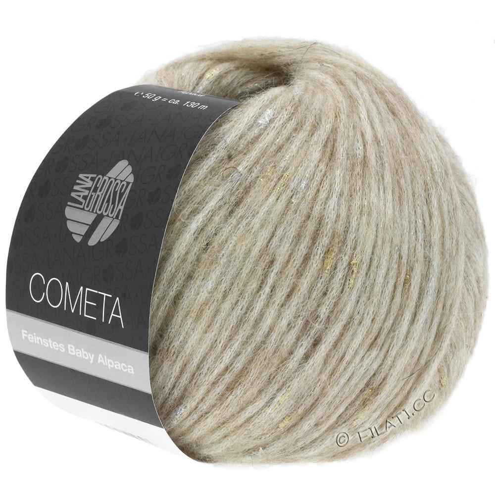 Lana Grossa COMETA | 002-beige/goud/zilver