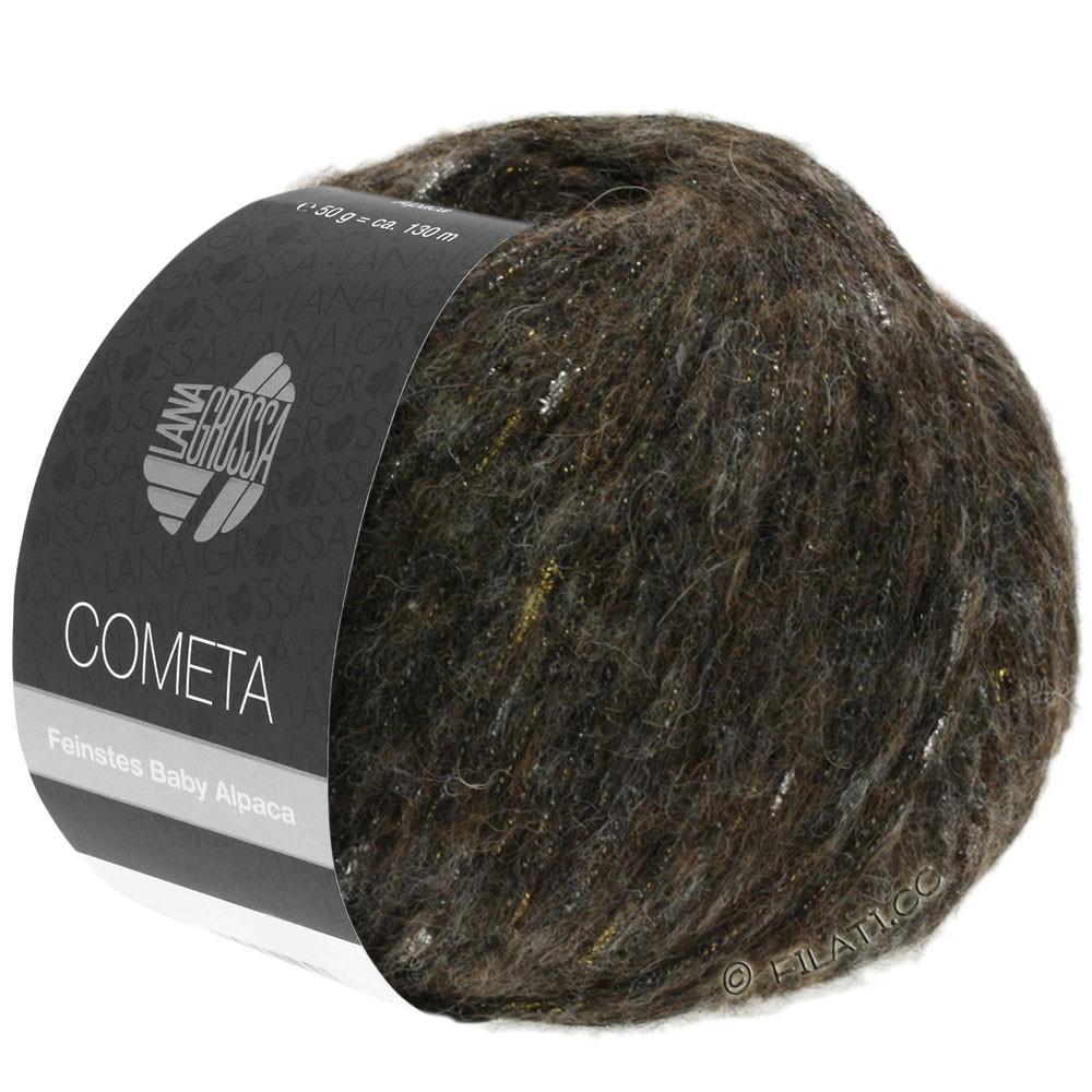 Lana Grossa COMETA | 012-zwartbruin/goud/zilver