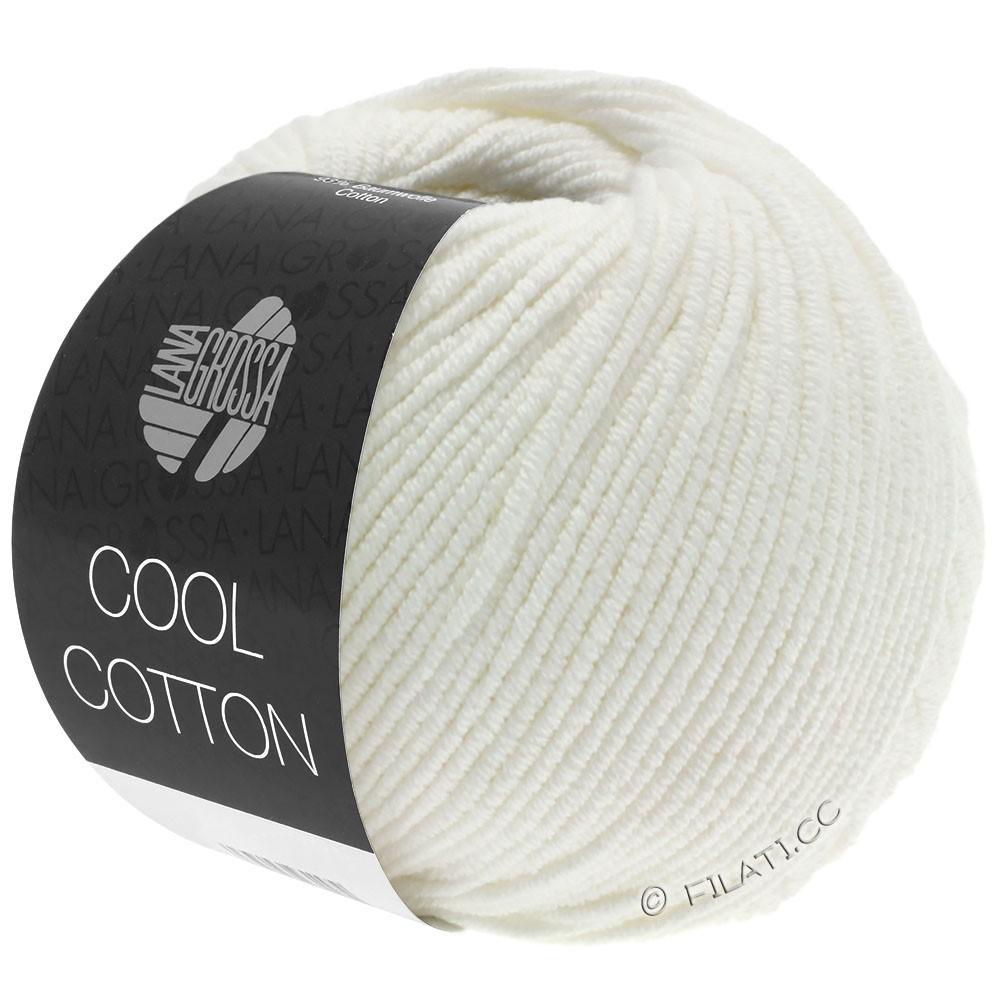 Lana Grossa COOL COTTON   02-ruwe witte
