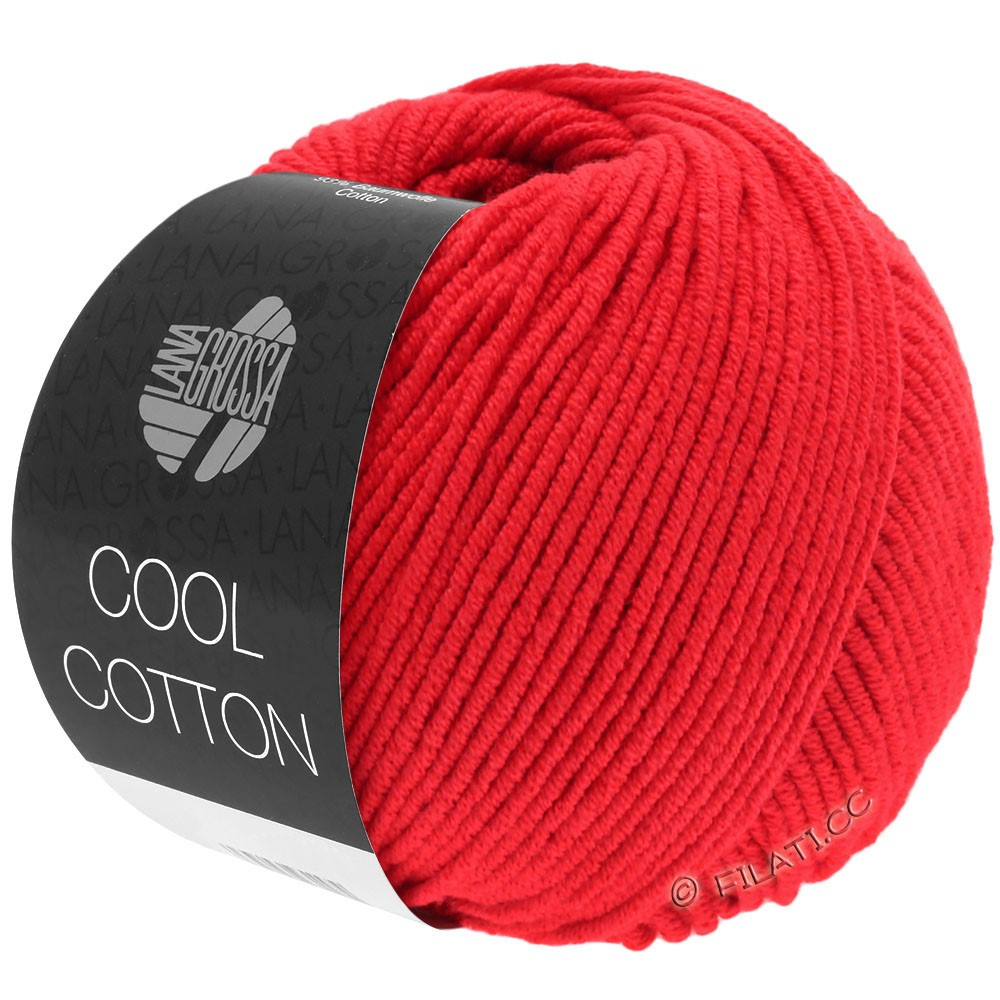 Lana Grossa COOL COTTON   08-signaalrood