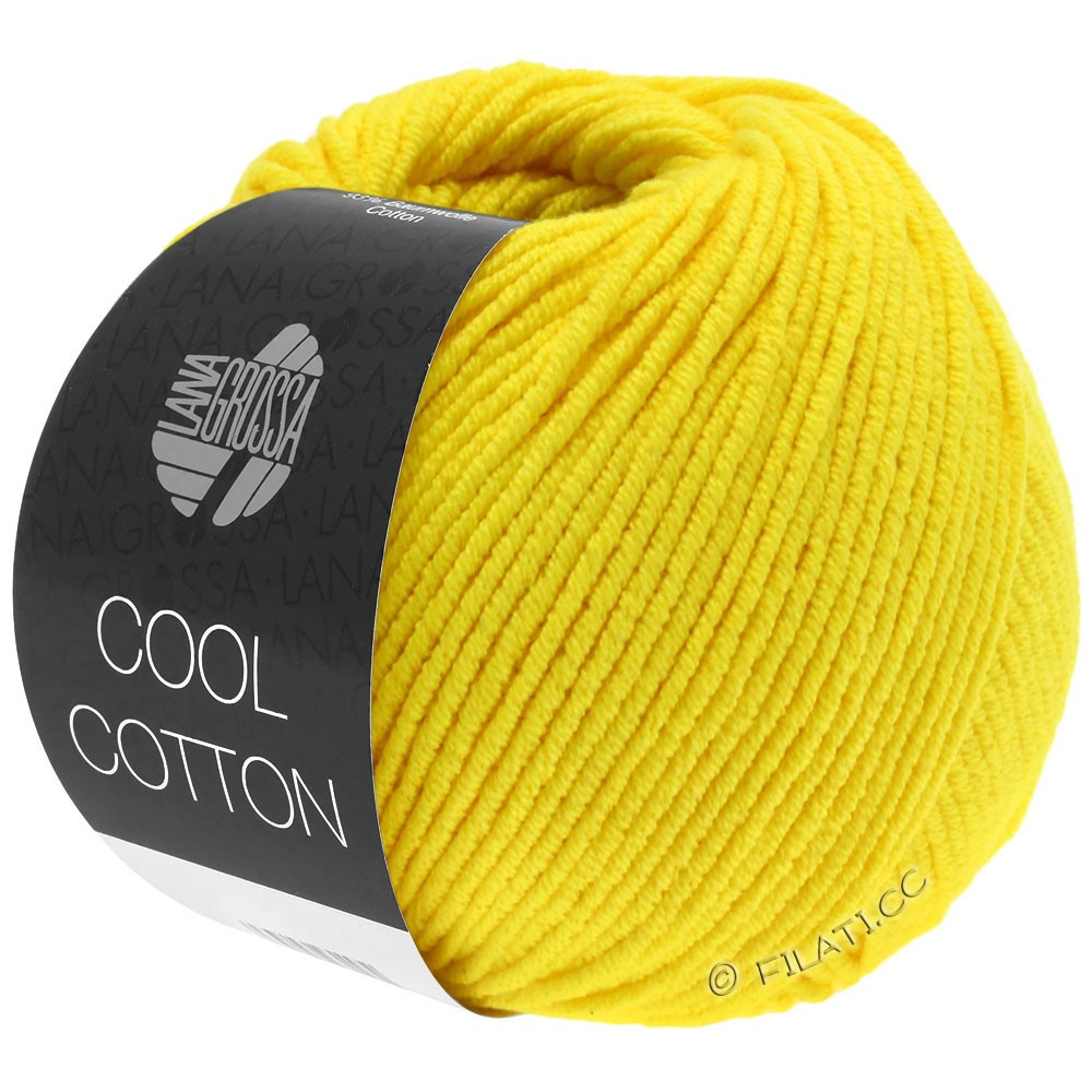 Lana Grossa COOL COTTON   10-geel