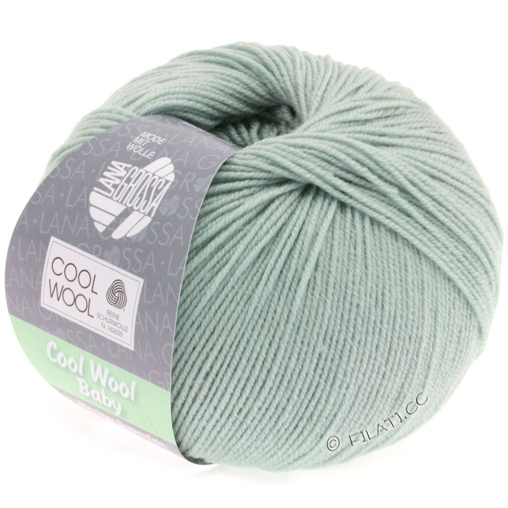 Lana Grossa COOL WOOL Baby | 247-grijs groen