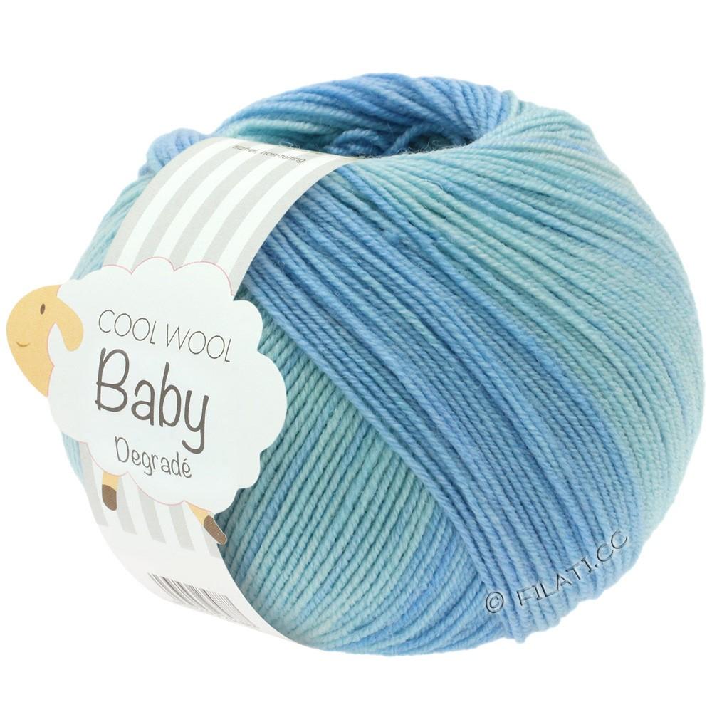 Lana Grossa COOL WOOL Baby Degradé | 503-bleekblauw/zachtblauw/licht blauw/anemoon