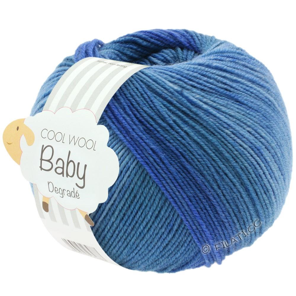 Lana Grossa COOL WOOL Baby Degradé | 504-jeans/midden blauw/donker blauw