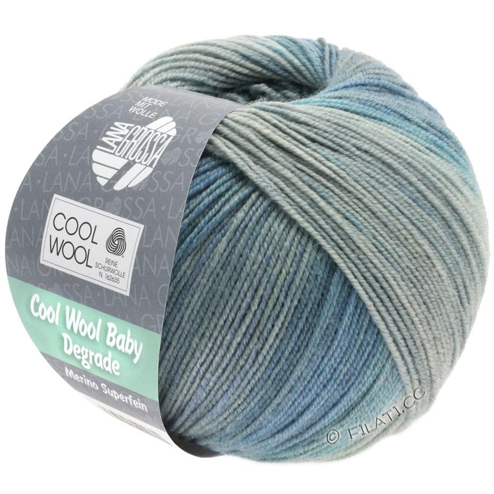 Lana Grossa COOL WOOL Baby Degradé | 509-licht grijs/middelen grijs/blauwgrijs