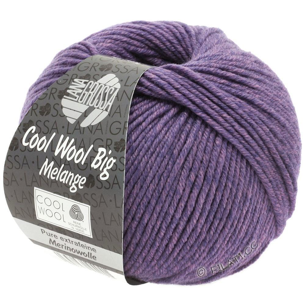 Lana Grossa COOL WOOL Big Uni/Melange/Print | 0335-sering/donker violet gemêleerd