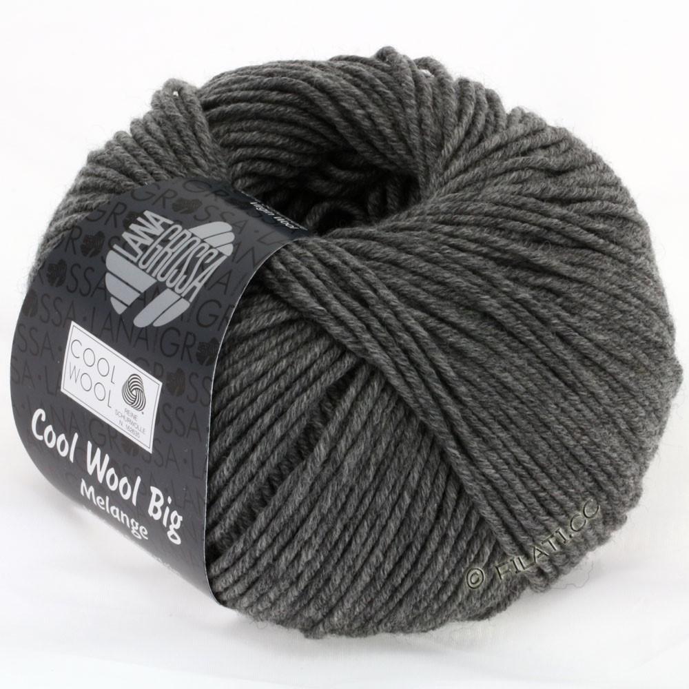 Lana Grossa COOL WOOL Big Uni/Melange/Print | 0617-donker grijs gemêleerd