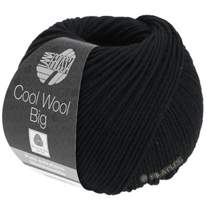 Lana Grossa COOL WOOL Big  Uni/Melange | 0627-zwart