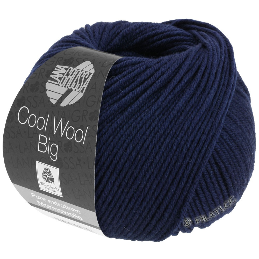 Lana Grossa COOL WOOL Big Uni/Melange/Print | 0630-nacht blauw