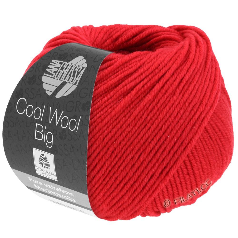 Lana Grossa COOL WOOL Big Uni/Melange/Print | 0648-karmijnrood