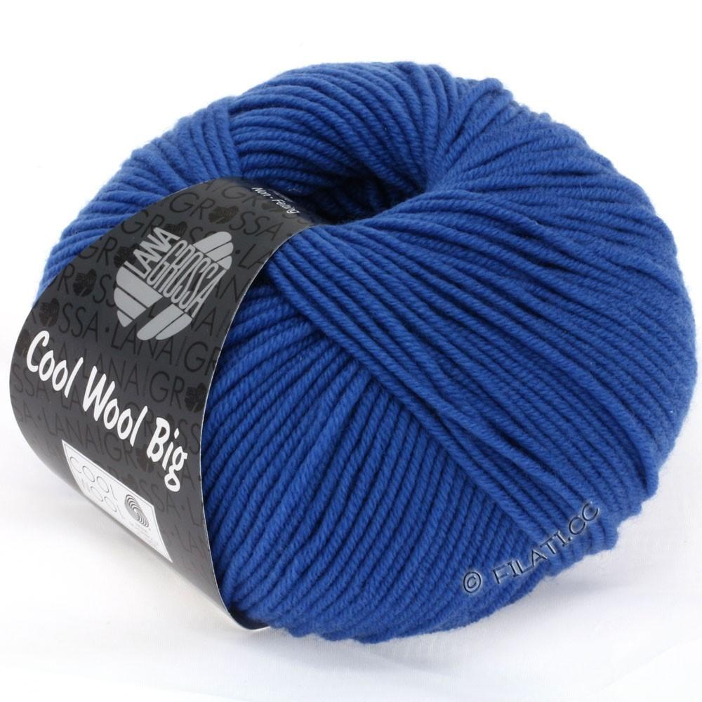 Lana Grossa COOL WOOL Big Uni/Melange/Print | 0902-kobaltblauw