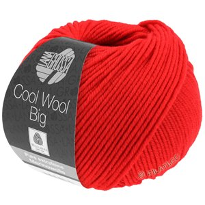 Lana Grossa COOL WOOL Big  Uni/Melange | 0923-briljantrood