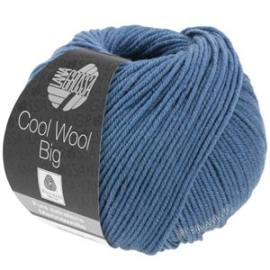 Lana Grossa COOL WOOL Big  Uni/Melange | 0968-duifblauw