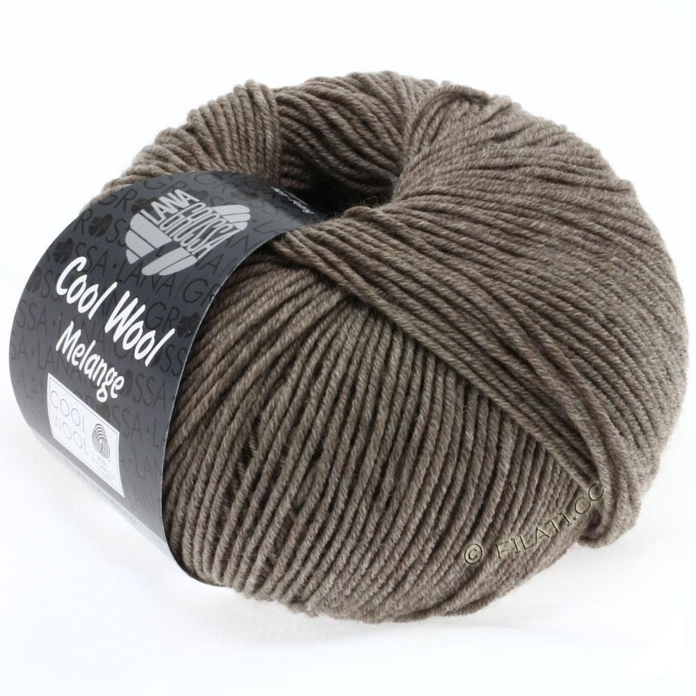 Lana Grossa COOL WOOL   Uni/Melange/Neon | 0115-grijs bruin gemêleerd