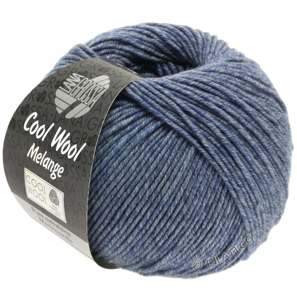 Lana Grossa COOL WOOL   Uni/Melange/Neon | 0141-duifblauw gemêleerd