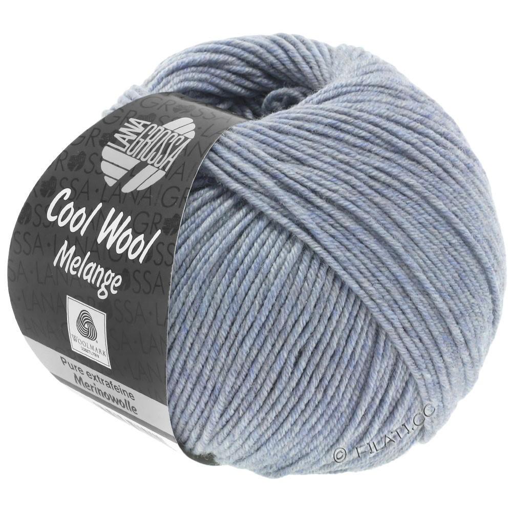 Lana Grossa COOL WOOL   Uni/Melange/Neon | 0154-grijs blauw gemêleerd