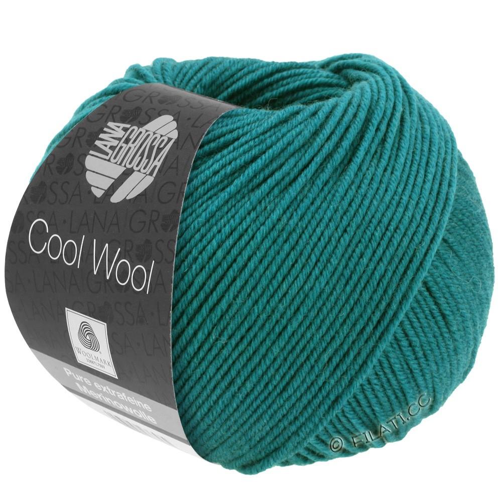 Lana Grossa COOL WOOL   Uni/Melange/Neon | 2015-petrol groen