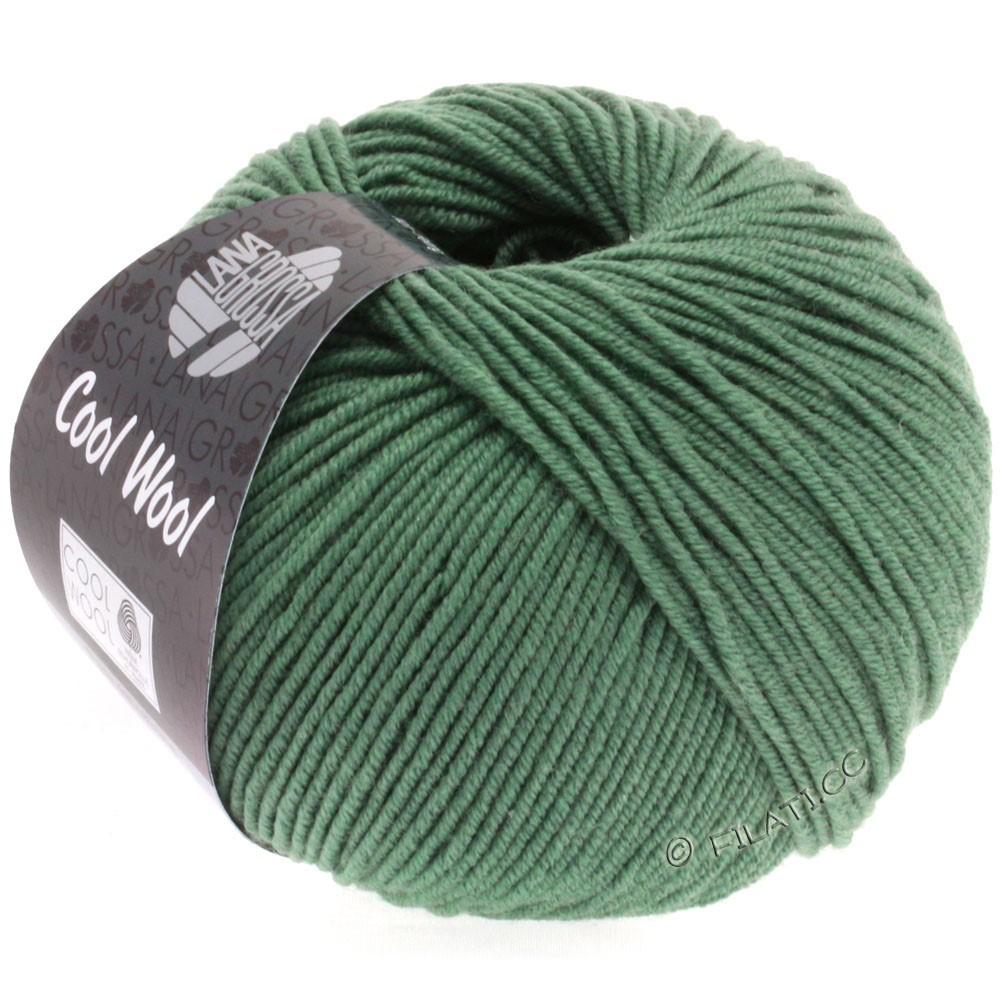 Lana Grossa COOL WOOL   Uni/Melange/Neon | 2021-donker grijs groen