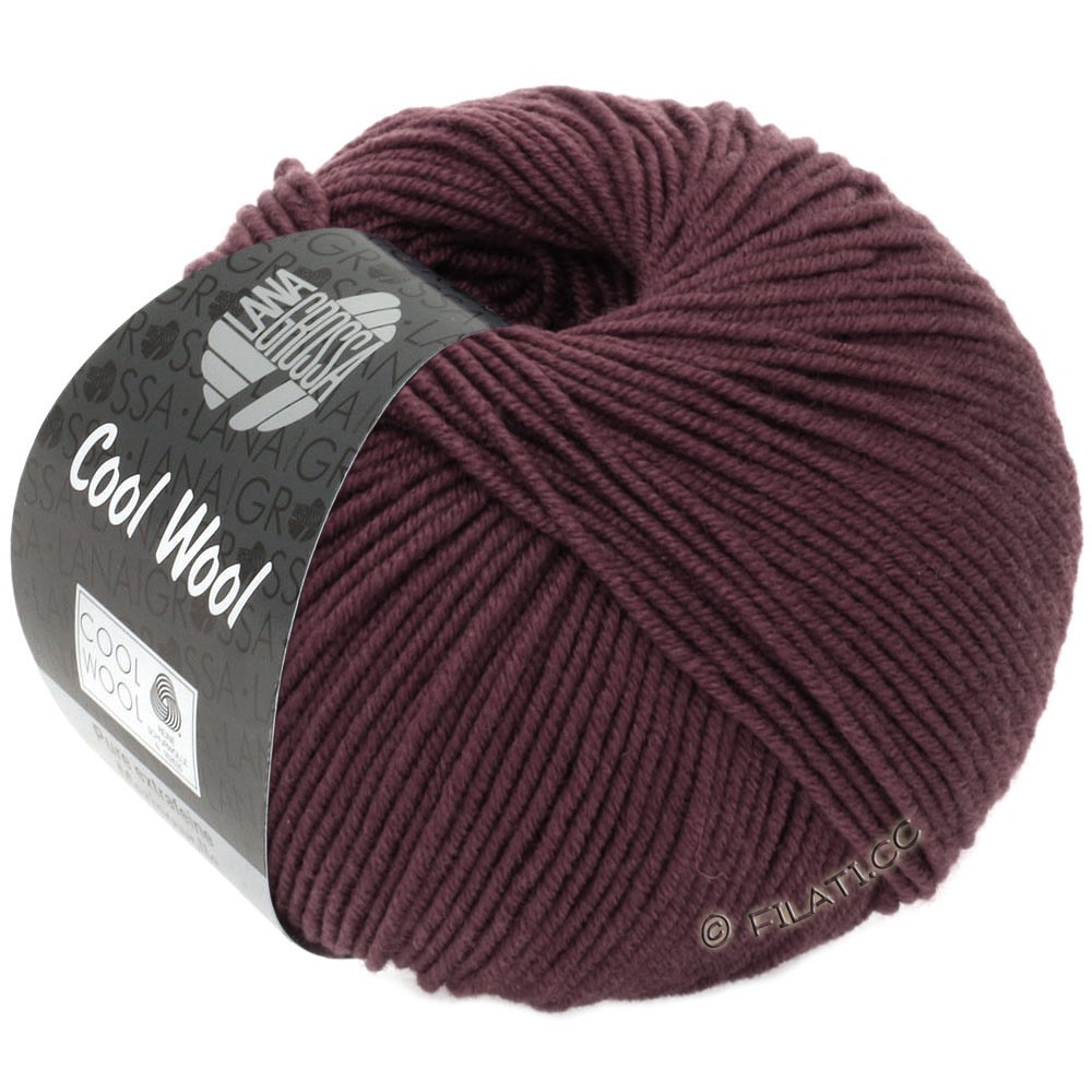Lana Grossa COOL WOOL   Uni/Melange/Neon | 2033-antieke violet