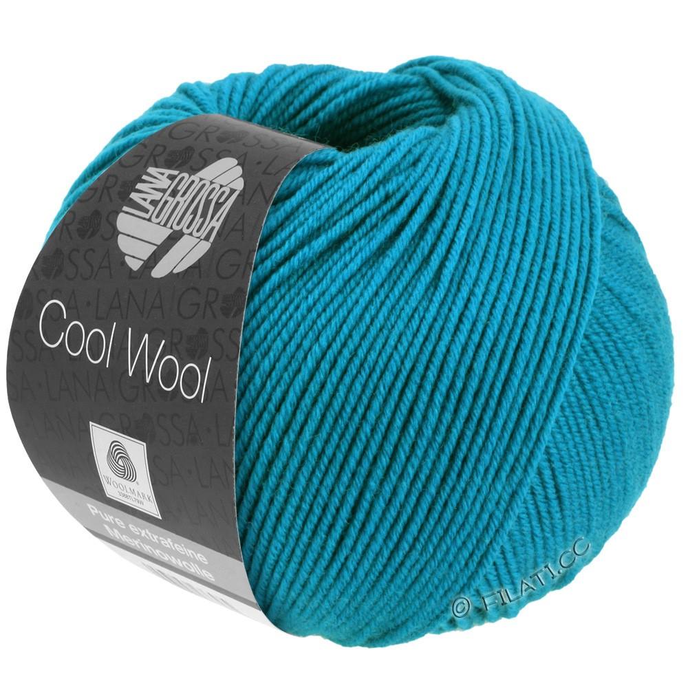 Lana Grossa COOL WOOL   Uni/Melange/Neon | 2036-azuurblauw