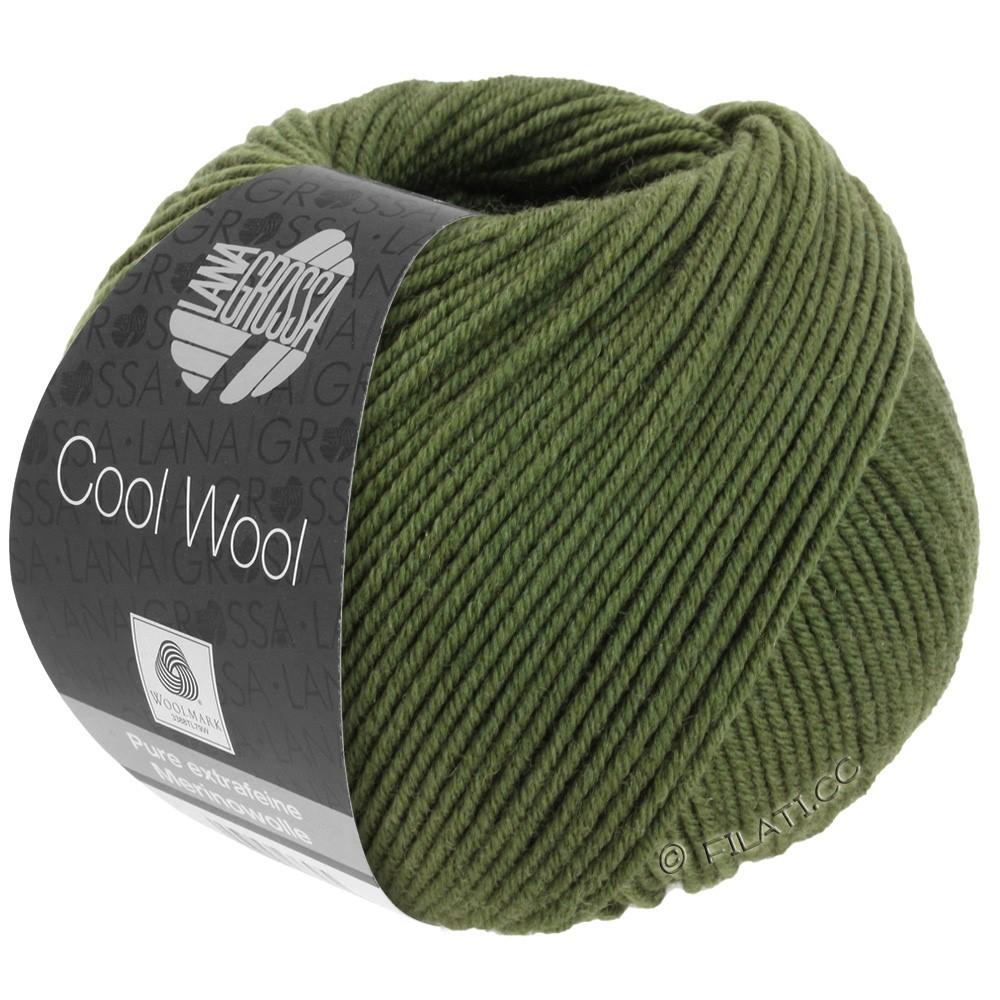 Lana Grossa COOL WOOL   Uni/Melange/Neon | 2042-donker olijf