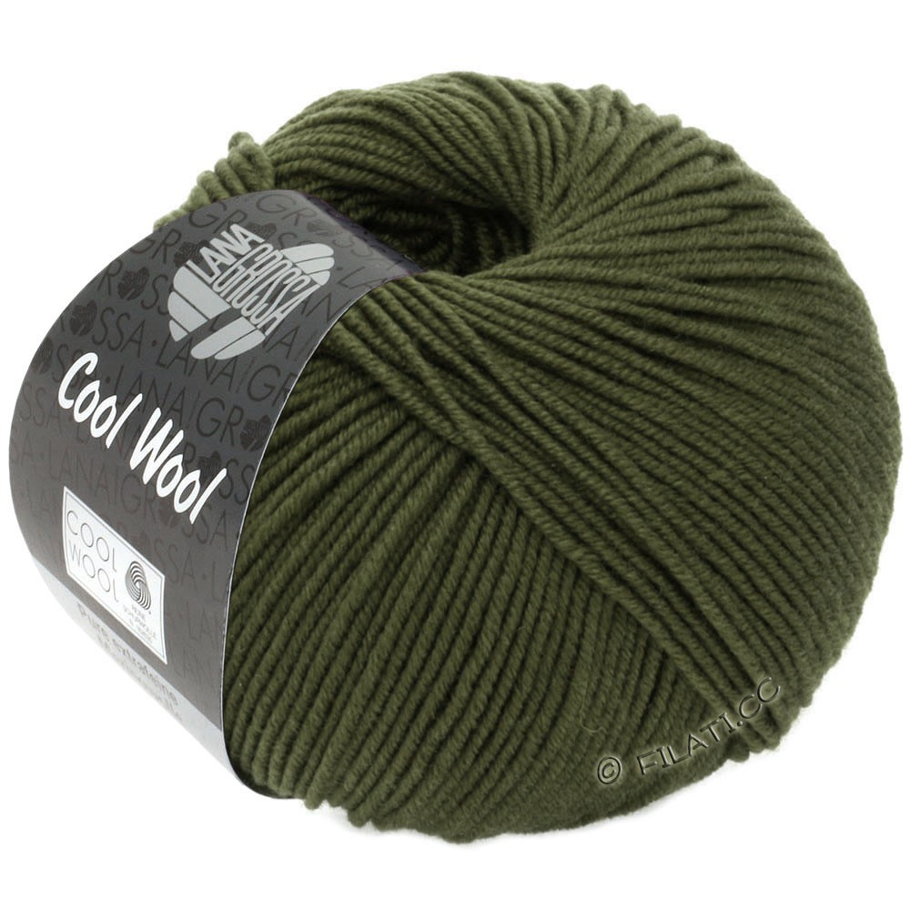 Lana Grossa COOL WOOL   Uni/Melange/Neon | 2051-mosgroen