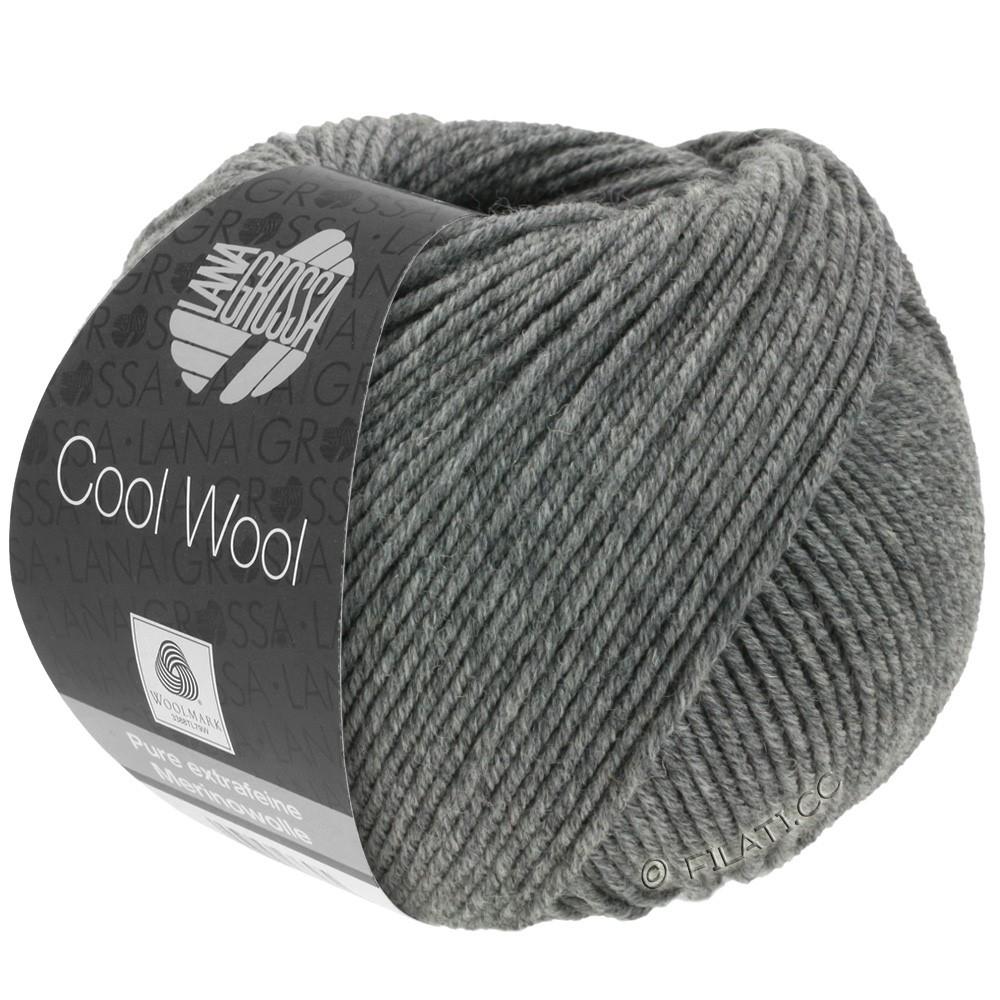 Lana Grossa COOL WOOL   Uni/Melange/Neon | 0412-donker grijs gemêleerd