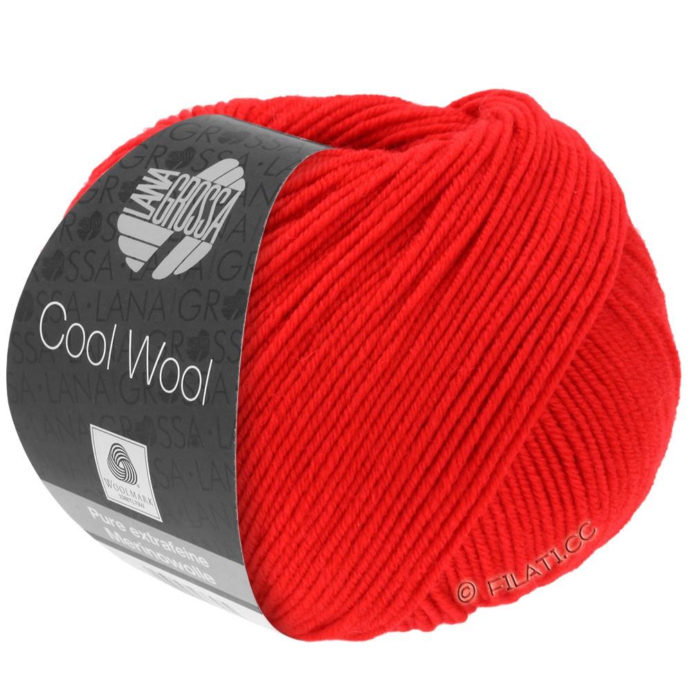 Lana Grossa COOL WOOL   Uni/Melange/Neon | 0417-briljantrood