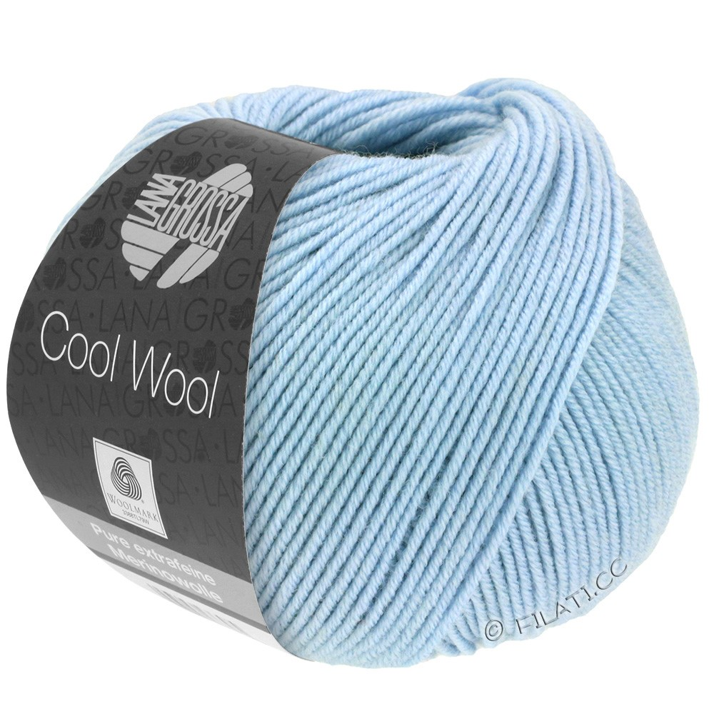 Lana Grossa COOL WOOL   Uni/Melange/Neon | 0430-hemelsblauw