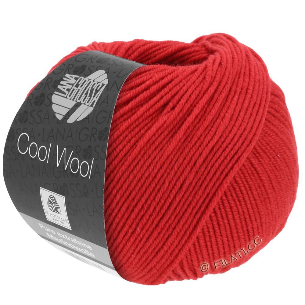 Lana Grossa COOL WOOL   Uni/Melange/Neon | 0437-karmijnrood