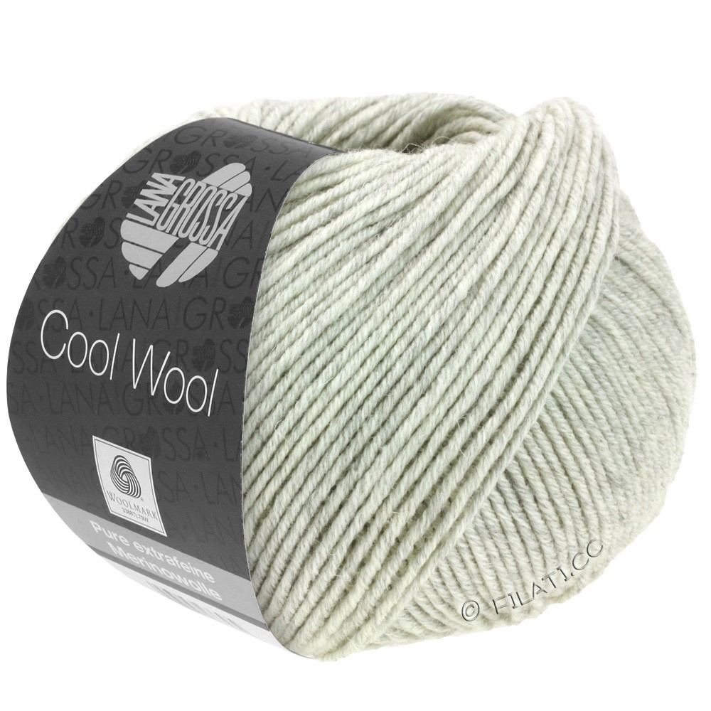 Lana Grossa COOL WOOL   Uni/Melange/Neon | 0443-licht grijs gemêleerd
