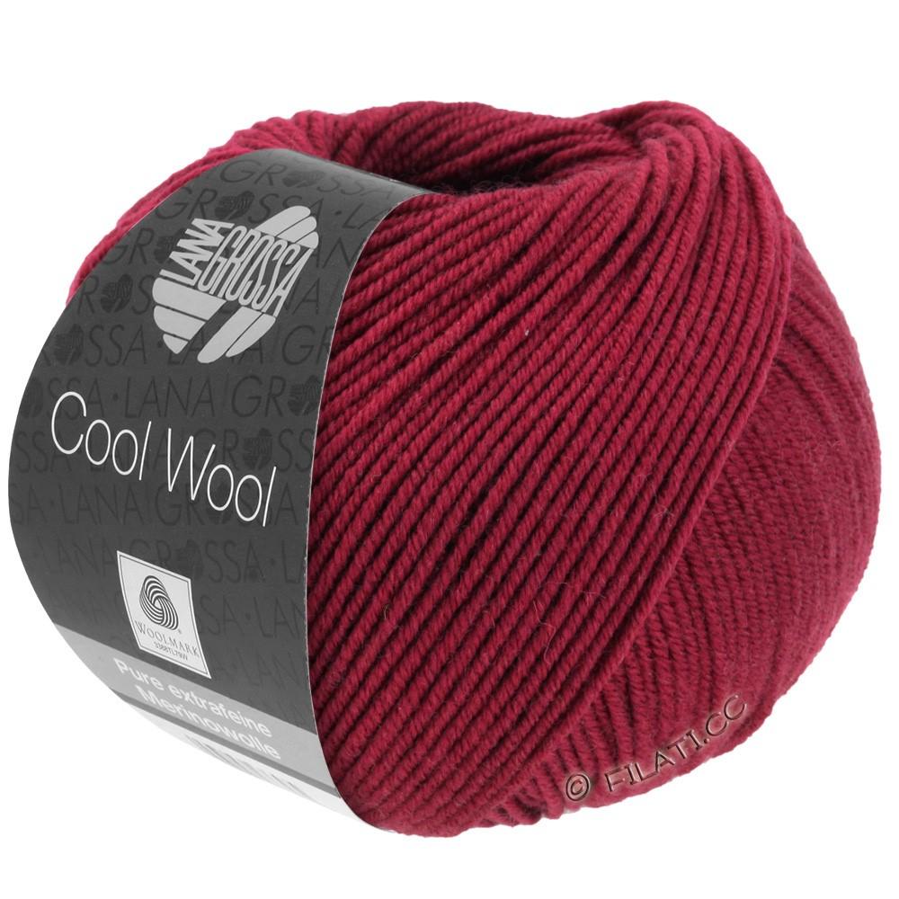 Lana Grossa COOL WOOL   Uni/Melange/Neon | 0468-wijnrood
