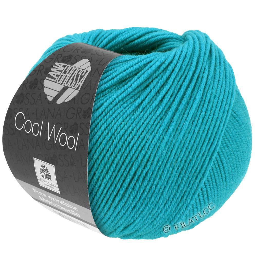 Lana Grossa COOL WOOL   Uni/Melange/Neon | 0502-turkoois blauw