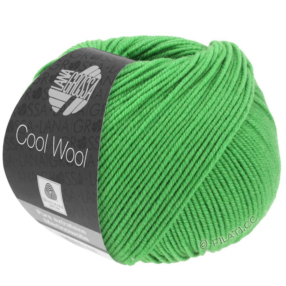 Lana Grossa COOL WOOL   Uni/Melange/Neon | 0504-appel groen