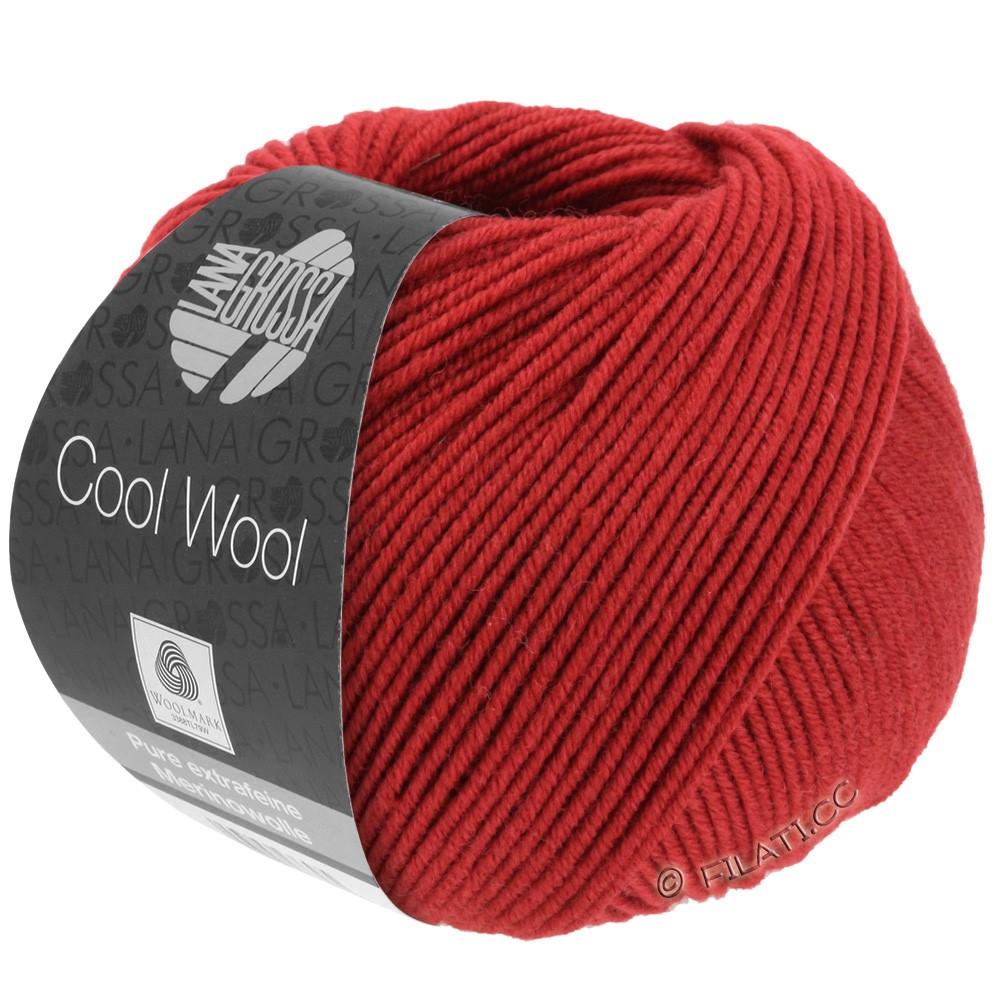 Lana Grossa COOL WOOL   Uni/Melange/Neon | 0514-donker rood
