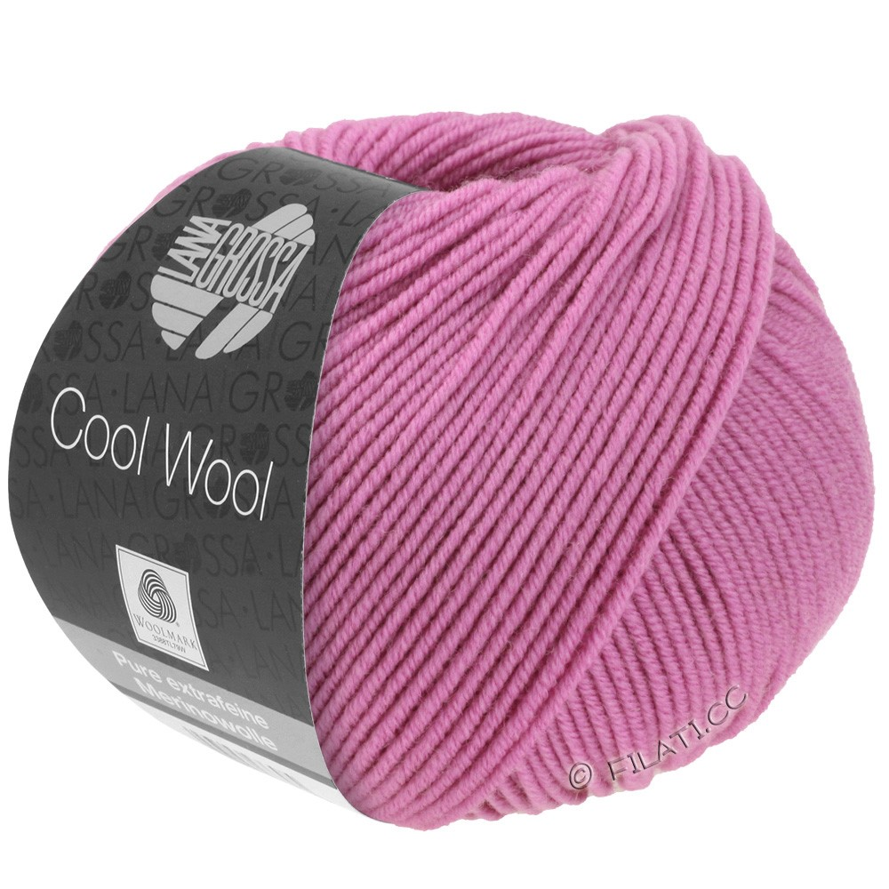 Lana Grossa COOL WOOL   Uni/Melange/Neon | 0530-foksia