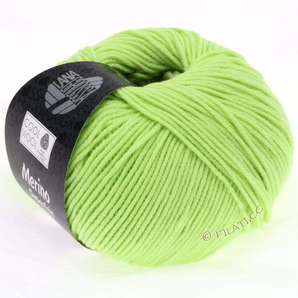 Lana Grossa COOL WOOL   Uni/Melange/Neon | 0540-bleekgroen