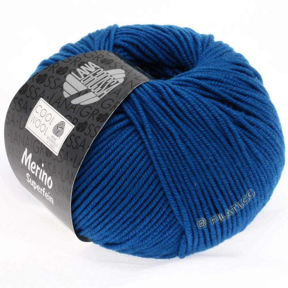 Lana Grossa COOL WOOL   Uni/Melange/Neon | 0598-petrol blauw