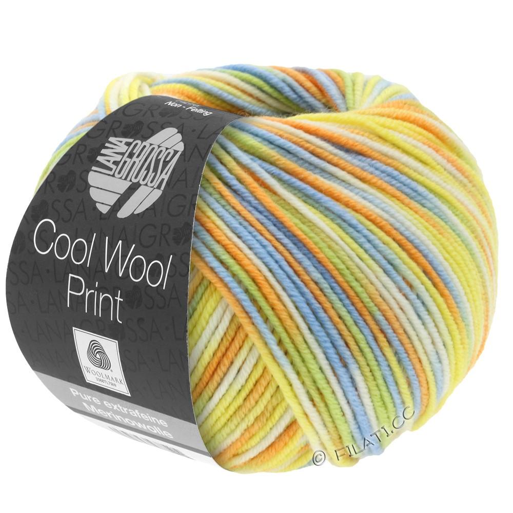 Lana Grossa COOL WOOL  Print | 722-zachtgroen/licht blauw/geel/oranje/ecru