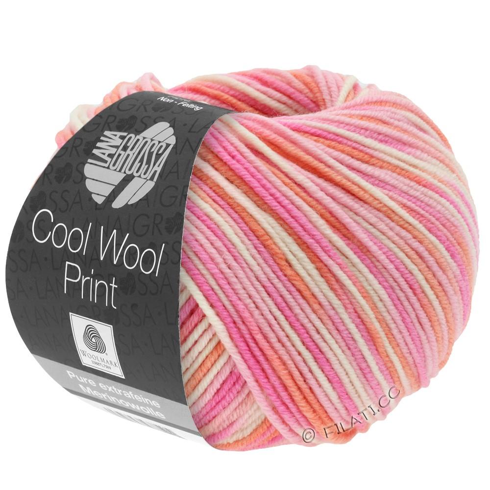 Lana Grossa COOL WOOL  Print | 726-rose/felroze/koraal/ecru