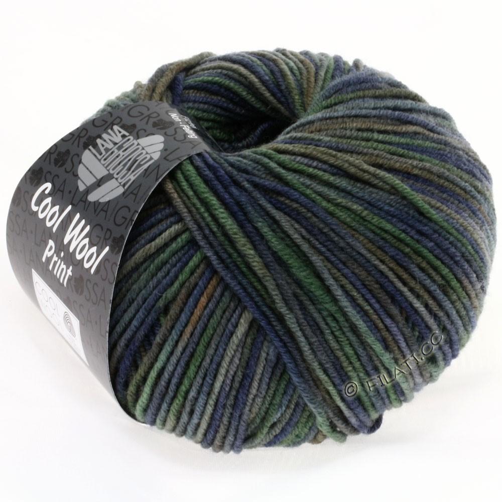 Lana Grossa COOL WOOL  Print | 789-marine/grijs groen/donker grijs/modder